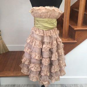Betsey Johnson Cupcake Tiered Evening Dress, Prom